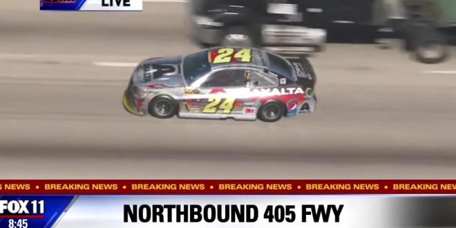 jeff gordon high speed chase