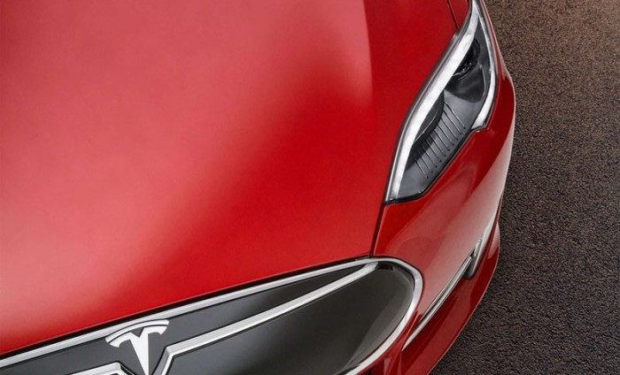 tesla front end nose