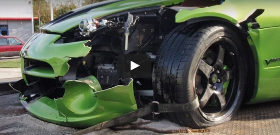 dodge viper crash