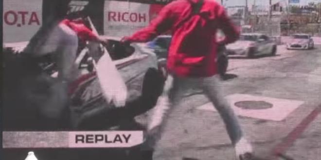 toyota celebrity pro race crash