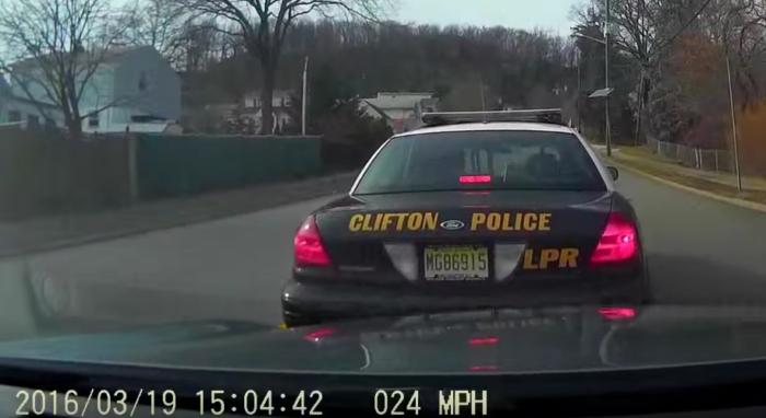 brake checking cop