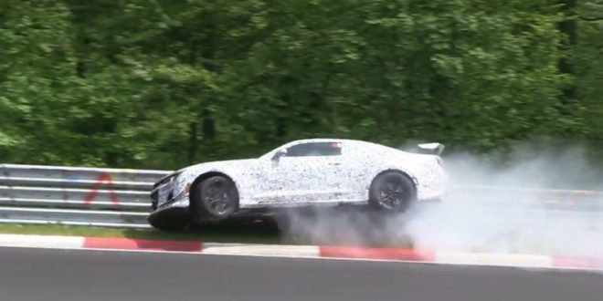 camaro z28 nurburgring crash