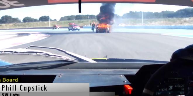 burning lotus racecar backup