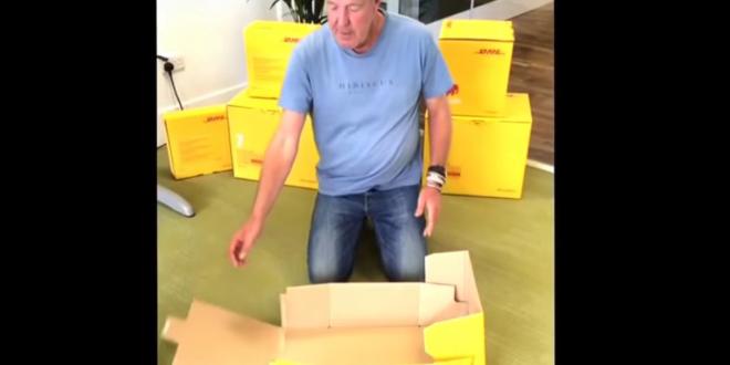 clarkson assemble dhl boxes