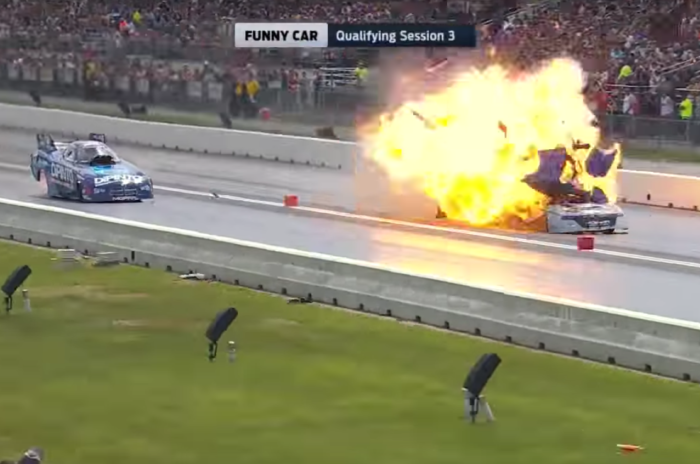 The Explosions Are Supposed To Be Inside The Engine Shifting Lanes