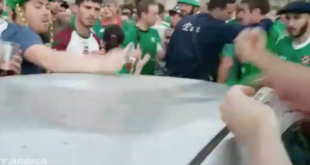 Irish Soccer Fans Dented Car's Roof. Fixes It With Cash, Booze, And Some Banging
