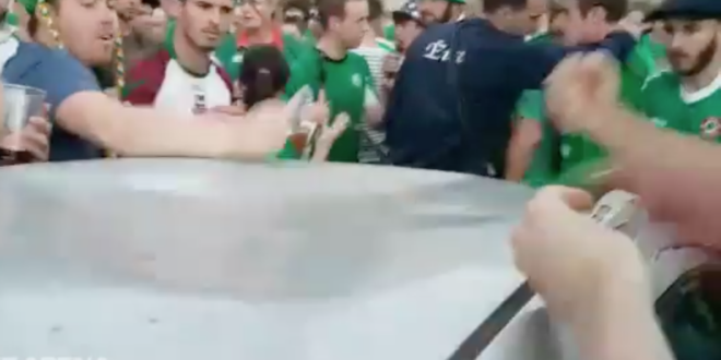 irish fans fix dent