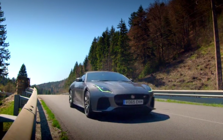 jaguar f-type svr top gear