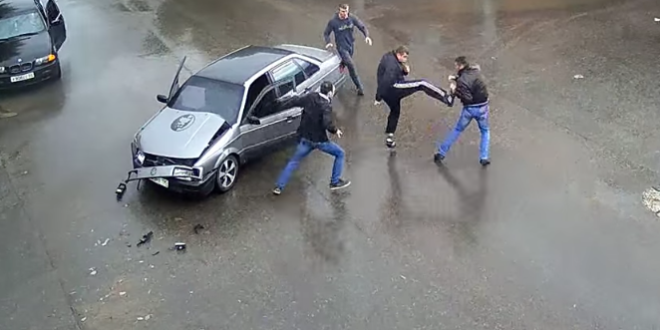 street fight russia accident