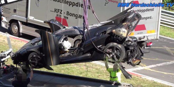 koenigsegg one to 1 wrecks at nurburgring