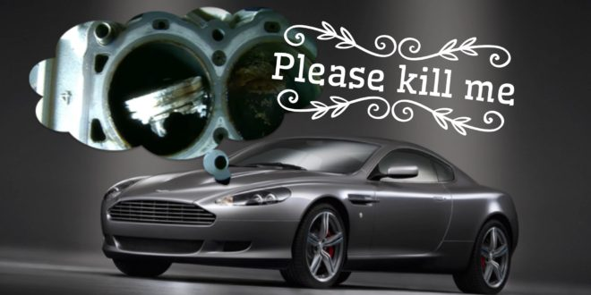 Aston Martin DB9 engine failure