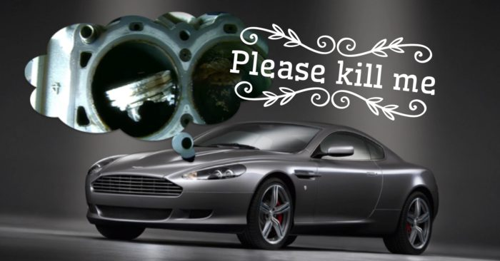 How To Destroy An Aston Martin V12 Engine Shifting Lanes