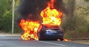 Tesla Burns To The Ground In A Ludicrous Amount Of Time