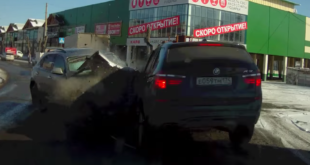 Brutal Crash Captured On Dashcam. Yes It Was In Russia