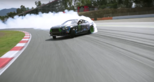 Watch As This Mustang Attempts To Drift An Entire Race Circuit
