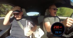 Conan O'Brien Shocks His Passenger While Driving In A BMW i8