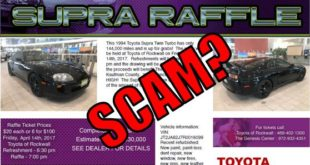 Toyota Supra Given Away At Charity, And Everyone Is Calling It A Scam