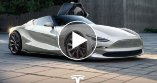 Photoshop Genius Creates Tesla Roadster Concept. Timelapse Shows How It's Done